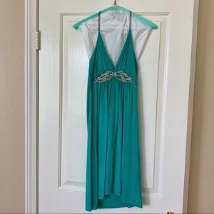 Sky Teal mini dress sz S
